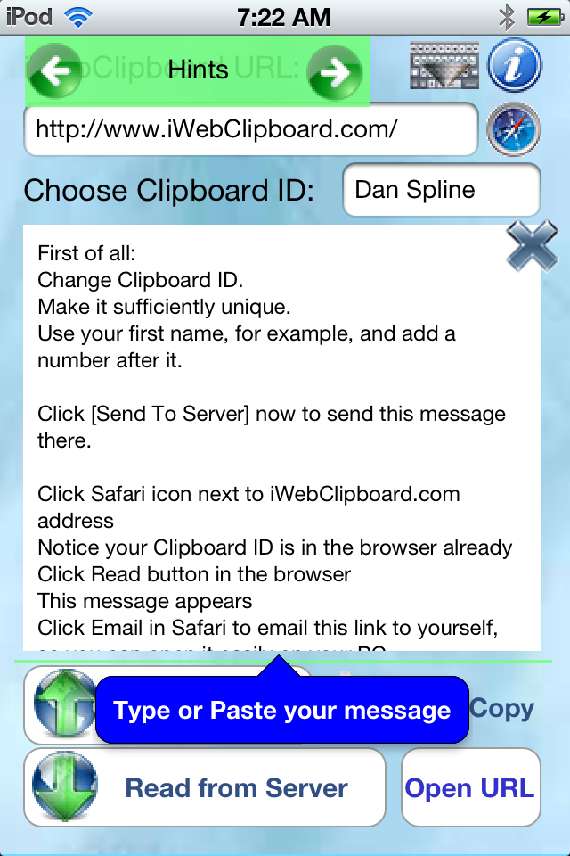 iWebClip  Web Clipboard for iPhone, iPad and iPod Touch